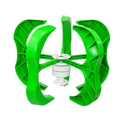 800W DC 12V/24V/48V 5 Blades Wind Turbine Generator Vertical Axis with Charge