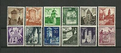 German General Government 1940 Stamps Buildings - Used & New