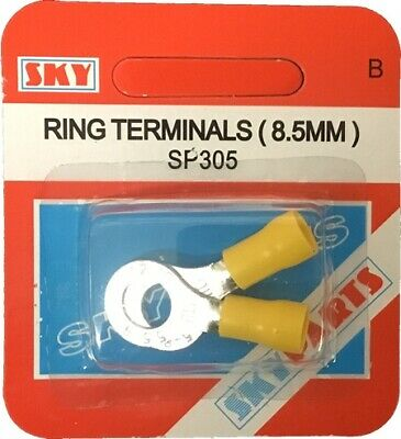 Sky Parts SP305 Car Van Automotive Accessory Hardware 35A Amps Yellow 8mm Ring T