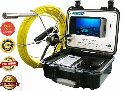 "Sewer Drain Pipe Cleaner 1"" Inspection Video Snake Camera 100 Ft  LCD 7""  USB SD"