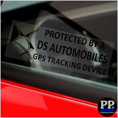 5x DS Automobiles GPS Tracking Device Security Window Stickers Car Alarm Tracker