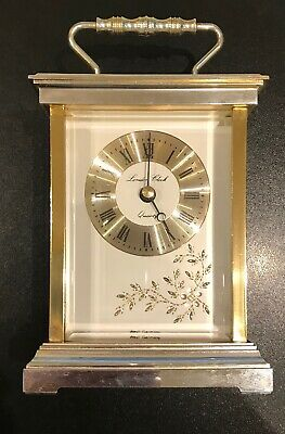 QUARTZ CARRIAGE CLOCK Gold Finish London Clock Co