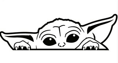 Baby Yoda Cute Peeking decal,sticker ,car,laptop,window,drift,jdm,vag,astra