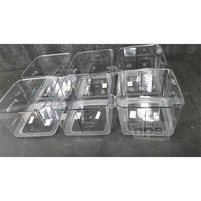 Box of 6 Rubbermaid FG631200CLR 12qt Carb-X Space Saving Containers Graduated