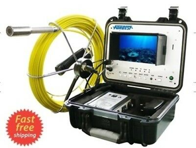 "Sewer Drain Pipe 1"" Waterproof Inspection Camera 100FT/30M Cable LCD 7""  USB SD"