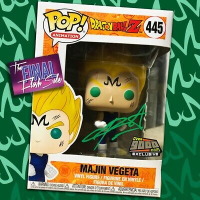 MAJIN VEGETA Funko Pop Over 9000 Exclusive Signed by Chris Sabat Green Ink