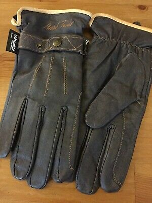 Mark Todd Leather Riding Gloves - dark brown,Thinsulate,Large