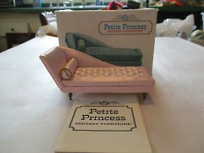 Vintage Dollhouse Furniture Ideal Petite Princess Boudoir Chaise Lounge Pink