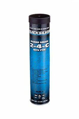 BRAND NEW Quicksilver 2-4-C Marine Grease/Lubricant with PTFE 14-Ounce Cartridge