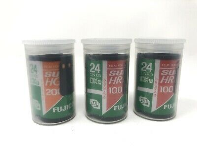 3 Rolls Fuji Fujifilm Fujicolor Super HR 200 100 35mm Film 24 Exp. ISO 200 - LOT