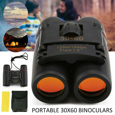 Day Night Vision Binoculars 30 x 60 With Zoom Outdoor Travel Folding Telescope
