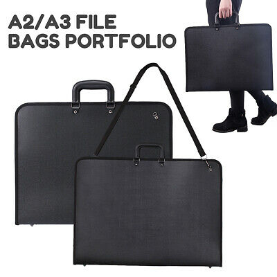 A2/A3 Portfolio Drawing Board File Organiser Office Document Carry Case AU