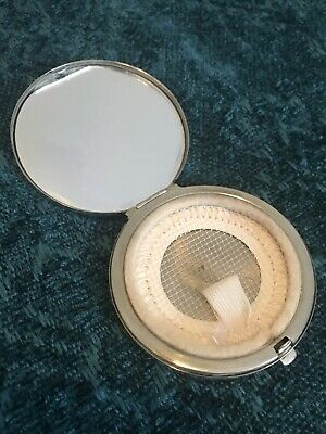 Vintage Tiffany & Co Sterling Silver Compact Mirror Makeup