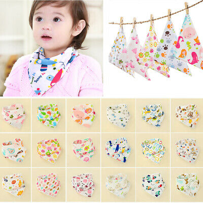 1/2pcs Infant Kids Baby Roll Bibs Boy Girl Toddler Saliva Towel Triangle Bandana