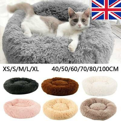 Pet Dog Cat Calming Bed Beds Large Mat Comfy Puppy Washable Fluffy Cushion Plush
