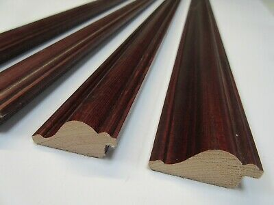 4 x 1m lengths (4m) Mahogany Wooden Picture Frame Moulding 44mm wide