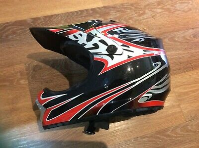 Black /& White XL 61-62cm Qtech MX Crash HELMET with Visor for Motocross Motorbike ATV Enduro VIPER in Red