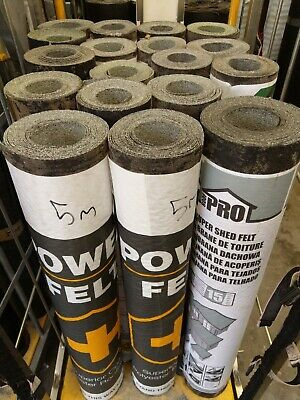 Rose Roofing Super Shed Polyester Strong Felt Green Mineral 8 7 6 5 4 3 2 1mx 1m