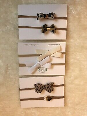 Baby Toddler Girl Hairbands Headbands Baby Bows Leopard Photo Prop Photo shoot