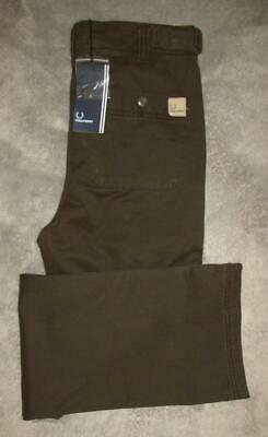 """FRED PERRY BROWN TROUSERS. SIZE: 29"""" WAIST x 32"""" INSIDE LEG (BNWT)"""