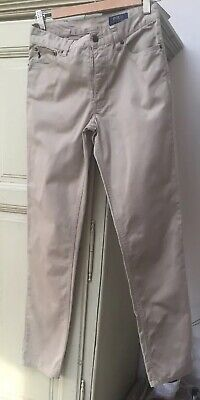 Boys POLO RALPH LAUREN beige straight chino Trousers age 16 years W29 L30