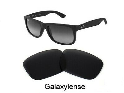 Galaxy Replacement Lenses For Ray Ban RB4165 Justin Black 54mm Sunglasses