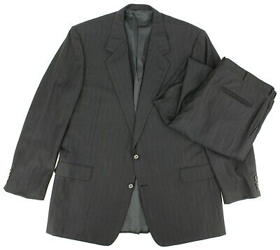 Hickey Freeman Collection Boardroom Mens Suit 48 XLG 2 Button 2 Piece 40x33