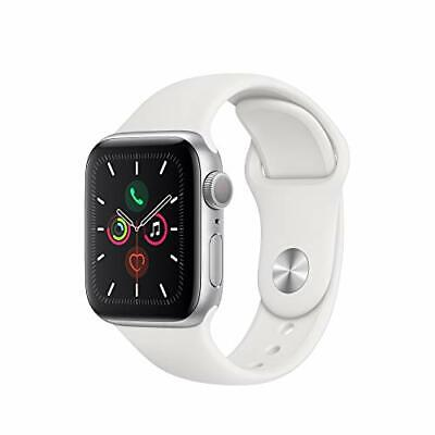 NEW SEALED Apple Watch Series 5 GPS 40MM Silver Aluminum Case w/White Sport Band