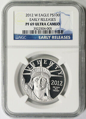 2012-W Liberty Platinum Eagle $100 PF 69 Ultra Cameo NGC 1 oz Early Releases