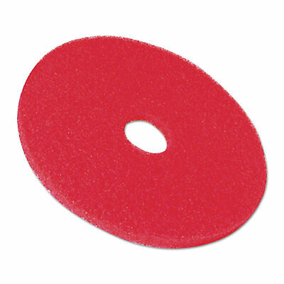 3M Buffer Floor Pad 5100, 20 In., Red, 5 Pads/Carton, CT - MMM08395