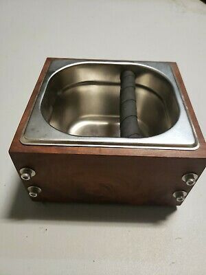 RöstHaus Knock Box - IPE and stainless - Handmade for Espresso