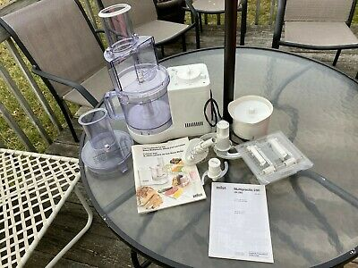 Braun Multipractic 280 Deluxe Food Processor With Attachments & Manual