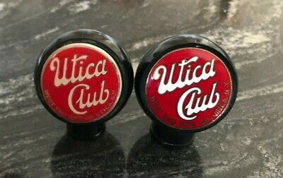 A) Vintage Utica Club Beer Ball Tap Knob West End Brewing Co Utica Ny New York