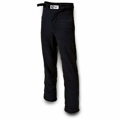 Impact Racing 23315510 Racer Driving Pants - Double Layer Black - L