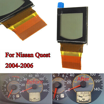 TAE 2004-2006 Nissan Quest Speedometer Cluster LCD Best Quality Bonded Ribbon V2