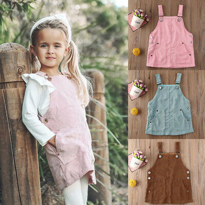 Toddler Baby Girls Kids Solid Color Romper One-Piece Costumes Summer Casual Wear