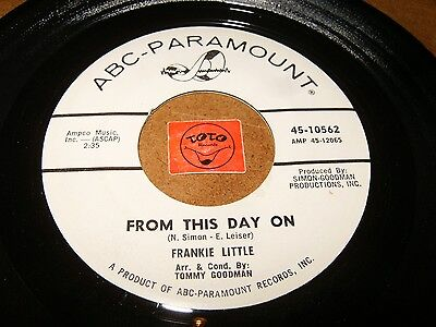Frankie Little - From This Day On - I Hope She Does   / Listen - Teen Popcorn