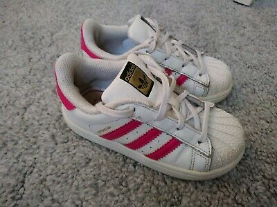 Girls Superstar Adidas Trainers Size Infant Uk 8