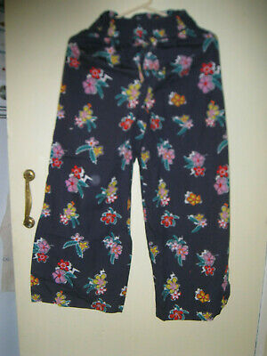 Girls aged 11 to 12 years blue/ floral wide leg trousers with  side split River