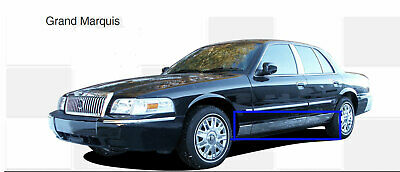 """Stainless Steel 8/"""" Wide Rocker Panel 6PC Fits Mercury Grand Marquis  98-11"""