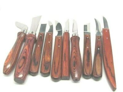 Ramelson 10pc Woodcarving Whittling Knife Set for Hobby, DIY, Professional