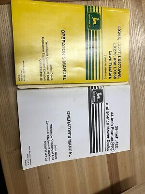 John Deere LX 255 279 288 277 & AWS Lawn Tractor Owner Operator Manual OMM139190