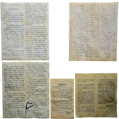 Abraham Lincoln Writing Set on Antiqued Parchment Paper 4 US History Documents