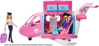 Barbie GJB33 Dreamplane Playset with Pilot Doll - New Boxed + Free 24h Delivery