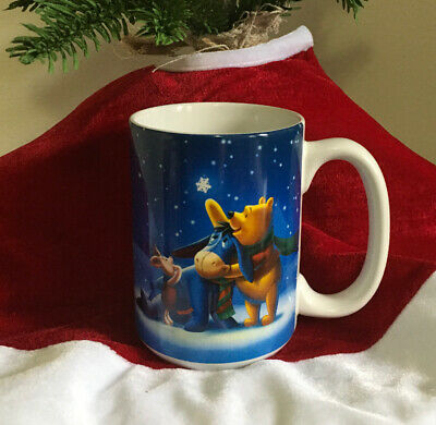 "Disney Store  ""Winnie The Pooh & Friends"" Christmas Holiday Mug ~ New With Tags!"