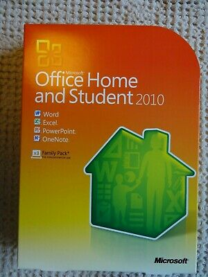 Microsoft Office Home and Student 2010-WORD EXCEL POWERPOINT Family pack 3 Users