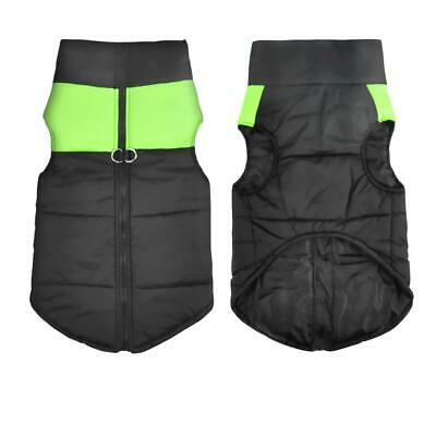 Dog Jacket Padded Waterproof Pet Clothes Super Warm Green Extra Large