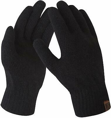 Womens Ladies Texting Touchscreen Winter Lined Warm Knit Wool Gloves On Sale Z28