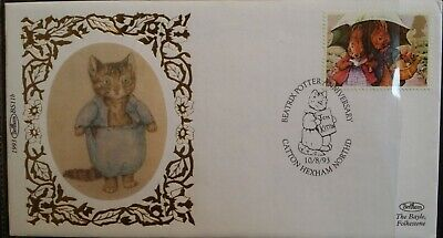 GB 1993 Beatrix Potter Booklet Benham Limited Edition FDC SHS First Day Cover