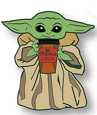 Pre Order Baby Yoda Inspired Enamel Pin With Coffee